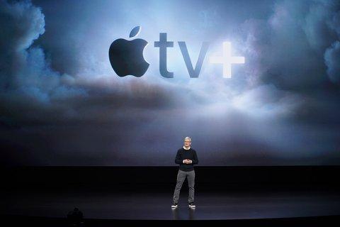 Apple-Chef Tim Cook bei der Vorstellung von Apple TV+.
