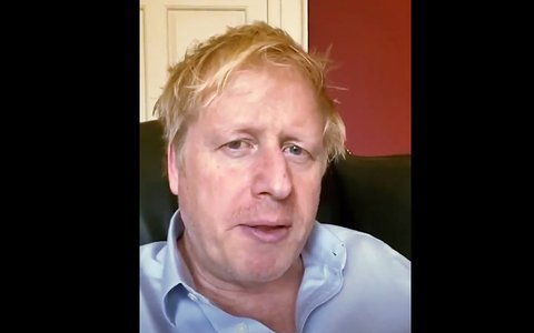 Boris Johnson am 3. April.